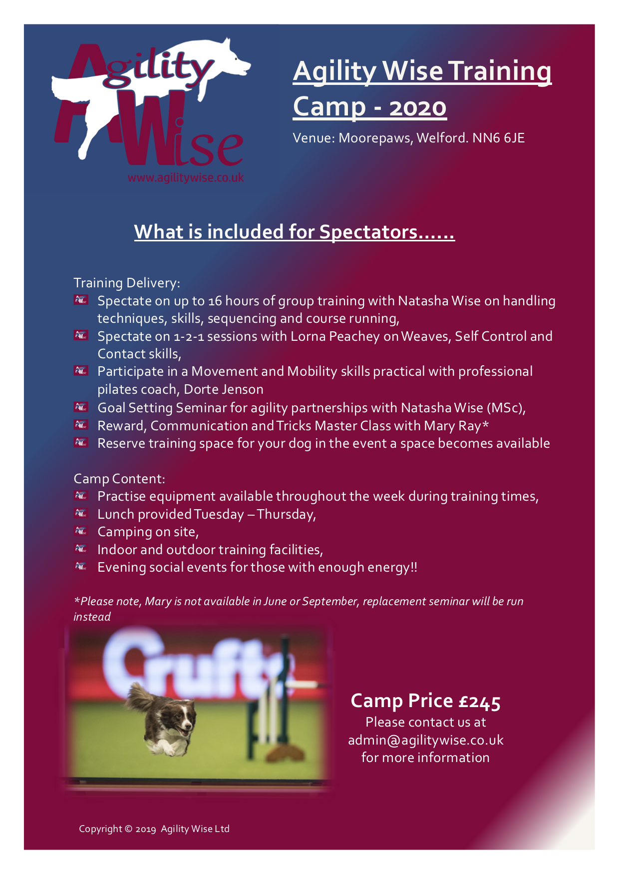Camp Spectator Flyer - Click to view in detail