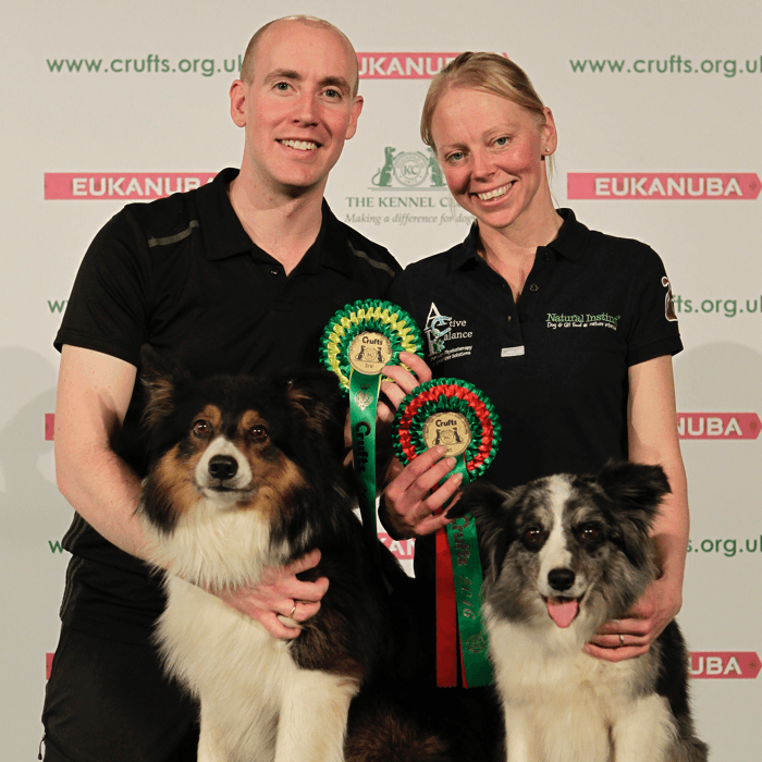 Matthew Goodliffe with Quincy & Natasha Wise with Dizzy - Crufts 2016